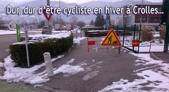 Dur, dur d'être cycliste en hiver à Crolles.jpg