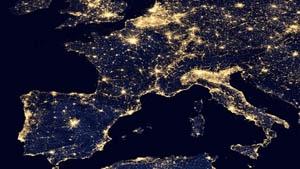 Polution lumineuse des zones urbaines en Europe 300.jpg