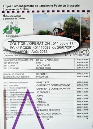 Panneau d'information public